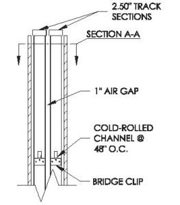 "Typical 6"" Sound Wall Detail"